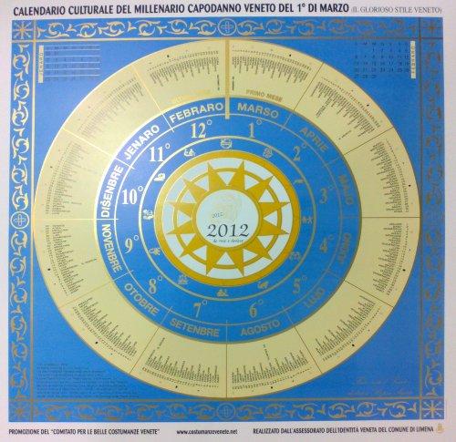 Calendario Veneto 2012